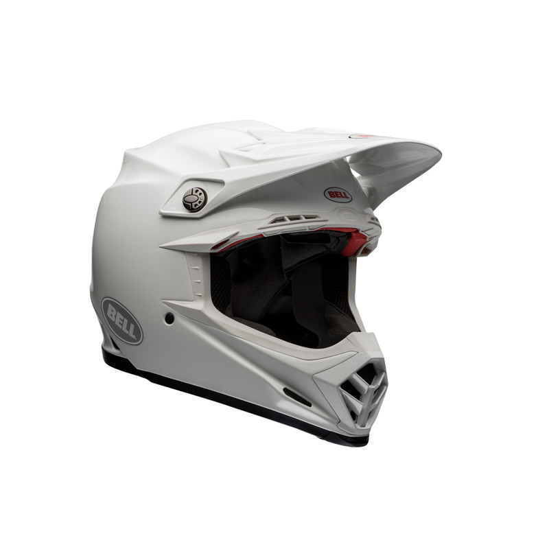b760fea25b864 Color  Solid White. MX Helmet  Moto-9 Carbon Flex